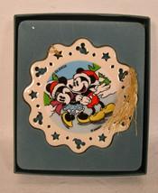 Lenox Mickey and Minnie Mouse Skating Sweet Christmas Ornament NIB - $29.70