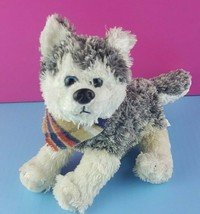 "Wishpets Plush Sled Dog Husky Utcha 2008 Stuffed Animal 8""  - $12.86"