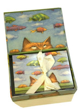 Cat Dreams Notecards Envelopes Cathy Gendron Michel Publishing 19 Count - $19.68