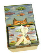 Cat Dreams Notecards Envelopes Cathy Gendron Michel Publishing 19 Count - £14.09 GBP