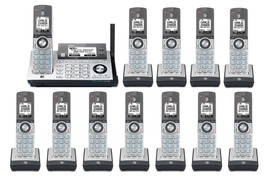 AT&T CLP99486 12 Cordless Phones w/Bluetooth Connect to Cell & Answering Machine - $350.55
