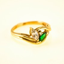 9ct Gold Ring Emerald and diamond UK Size L BHS - $272.97
