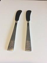 National Silverplate Calvalcade Basket Weave Spreader/Butter Knife Lot Of 2 - $9.00