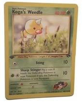 Pokemon Card - 1st Edition Koga's Weedle (82/132) Gym Challenge Set ***N... - $1.99