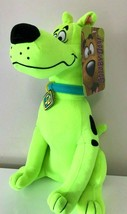 """New Scooby -Doo Plush Toy Fluorescent Green. Large 12"""" each. Licensed. NWT - $18.61"""