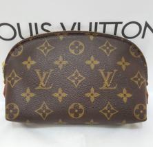 "Louis Vuitton Monogram Cosmetic Makeup Brown Full Zipper Pouch Bag L 7""x H 4"" - $298.00"
