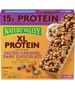 Nature Valley XL Protein Chewy Granola Bars, Salted Caramel Dark Chocolate 7 Ct - $11.00