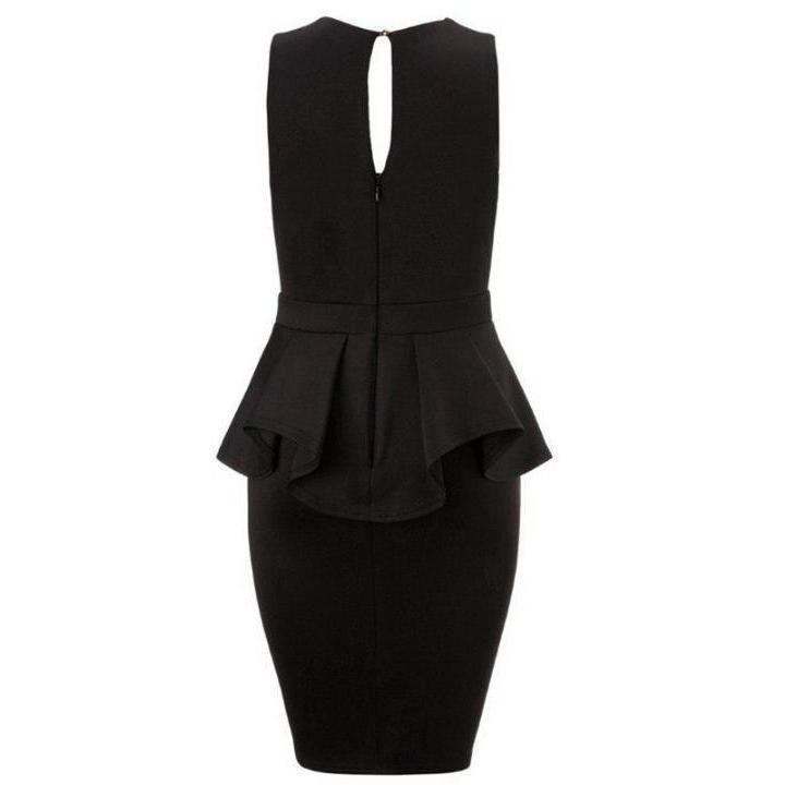 V-Neck Sexy Peplum Sleeveless Women Dress