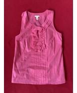 Jcrew Pink Ruffle 100% Cotton Women's Tank Top Size 4 - $14.06