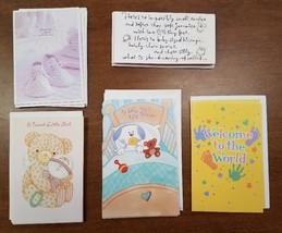 Wholesale Lot of 477 New Baby/Christening Greeting Cards- Assorted Manuf... - $70.11