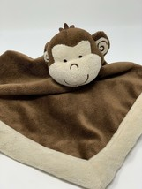 "Tiddliwinks Monkey Brown Cream Velour Lovey Security Blanket 11"" X 11"" - $9.99"