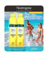 Neutrogena Beach Defense Sunscreen Spray SPF 60+, 2-pack Water & Sun Pro... - $14.99