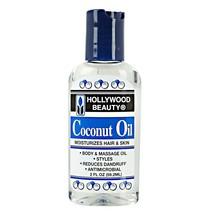Hollywood Beauty Coconut Oil Moisturizes Hair & Skin for Body Massage Oi... - $6.44