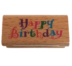 """StampCraft Rubber Stamp Happy Birthday Card Making Words Small 2""""W x 1""""H... - $3.00"""