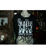 THE BEATLES ABBEY ROAD Cool Jet Black Fringed Blouse Size XL - $11.88