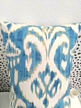 Greendale Home Fashions AZ5811S2-SEASIDE Aqua Outdoor Rectangle Throw Pillow  image 5