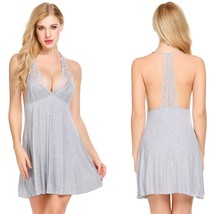 Sleepwear Women Chemise Nightgown Full Slip Lace Lounge Dress - $39.95