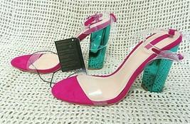 "Forever 21 Magenta & Metallic Green Platform 4"" Strap Heel Pumps Size 9 ~ Nwt - $22.12"