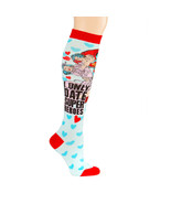 I Only Date Super Heroes Knee Socks Women's 9-11 Superman DC Comics - NEW - $14.79