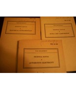 LOT OF THREE 1941 WORLD WAR TWO TECHNICAL MANUALS COMPLETE AND NICE - $23.76