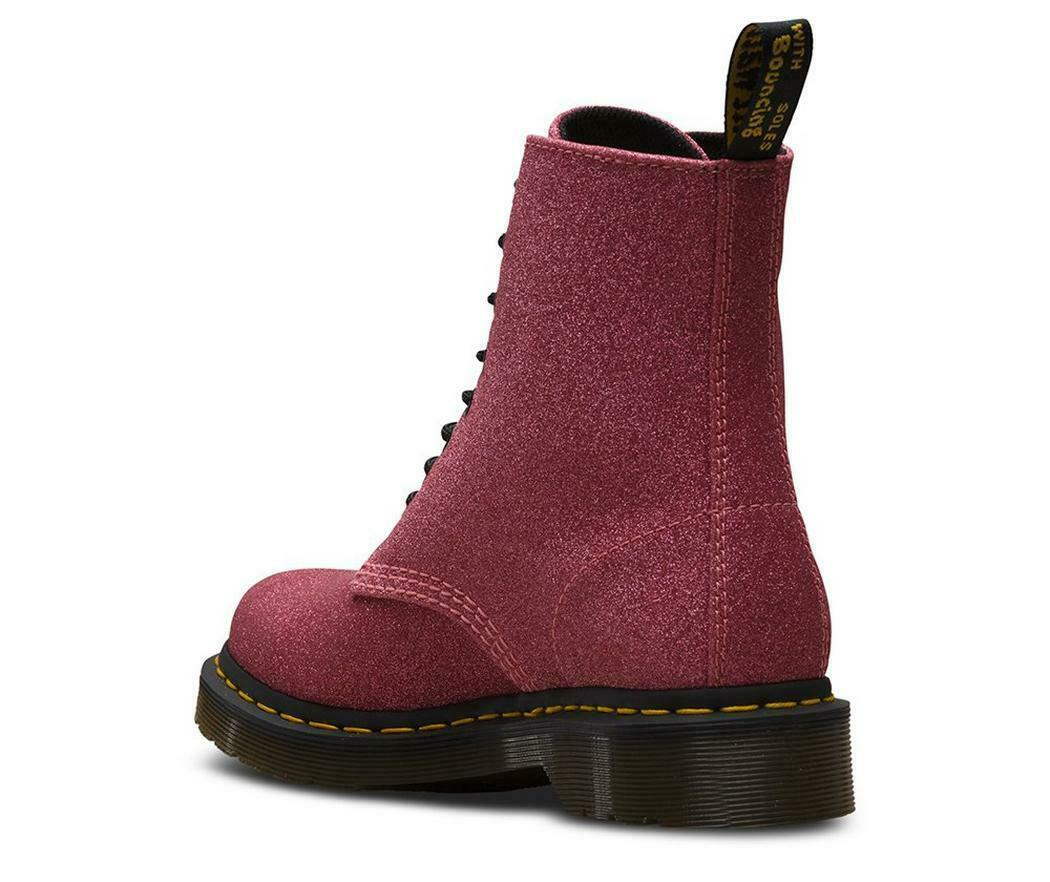 Womens Dr Martens 1460 Pascal Glitter Purple Multi Ankle Boots Size