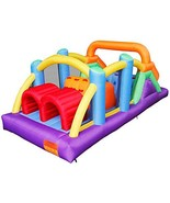 RETRO JUMP Inflatable Obstacle Course with Large Climbing Wall Slide Sup... - $475.71