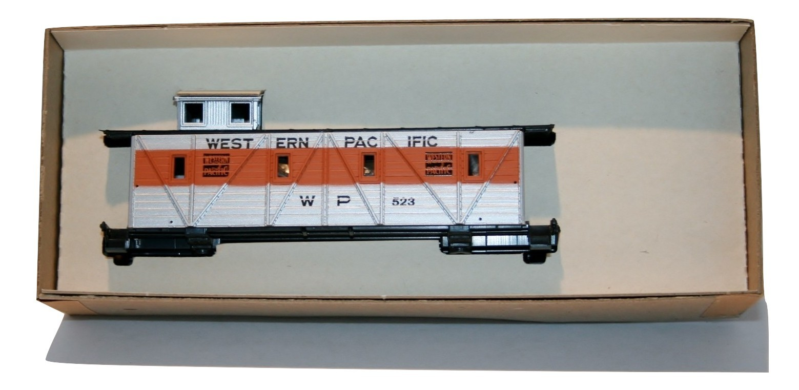 "MDC Roundhouse Caboose ""Old Timer"" #3463, Western Pacific New, Orange/Silver NIB"