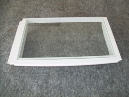 67004163 Maytag Whirlpool Refrigerator Meat Pan Frame & Glass - $30.00