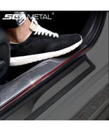 SEAMETAL® Car Stickers Styling 5D Carbon Fiber Rubber Door Vinyl Sill Pr... - $14.05+