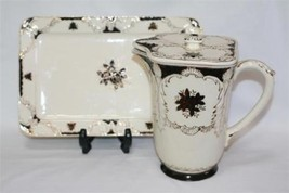 Vintage MARUHON WARE JAPAN Hand Painted Pitcher & Tray #423 - $75.00