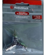 RadioShack 274-303 Heavy-Duty Y-Adapter - RCA Male to Dual RCA Female - NEW - $5.93