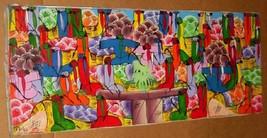 Signed Franki Haitian Creole HAITI African Original Canvas Art Painting - $1,529.99