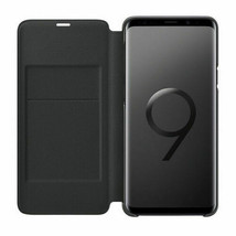 Original Samsung Galaxy S9 Plus S9+ LED View Cover Wallet Case EF-NG965 Black image 2