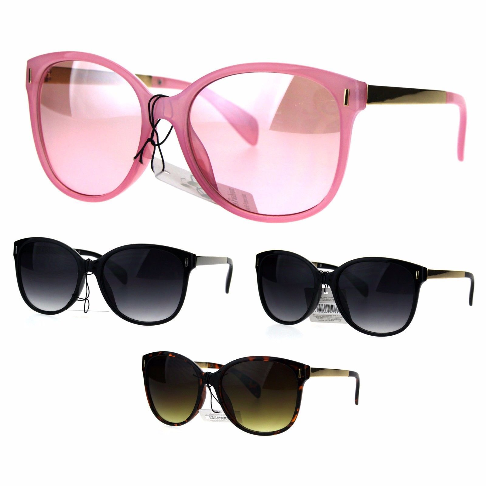 Womens Designer Fashion Butterfly Diva Plastic Gradient Sunglasses