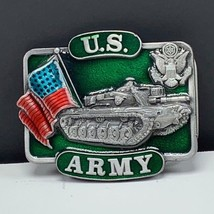 Belt Buckle vintage military vietnam veteran vtg bergamot sherman tank us army - $37.62