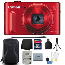 Canon PowerShot SX610 HS 20.2MP Wi-Fi Enabled Digital Camera (Red) + 16G... - $219.85