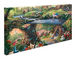 Thomas Kinkade Disney Alice in Wonderland 16 x ... - $179.00