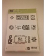 """Stampin Up Stamp Set of 10 """"Hello Lovely """" Thank You You're the Best - $12.82"""
