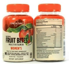 2 One A Day Natural Fruit Bites Women's Multivitamin 60 Count Dietary Supplement - $23.99