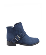 London Rag Women's Blue Round Toe Bootie  - £58.46 GBP+