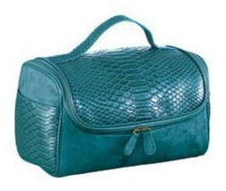 Make Up Beauty Case - Turquoise with Faux Suede (New package) ~AVON~ - $24.70