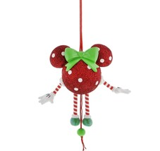 disney parks minnie mouse dancing christmas ornament new with tags - $29.69