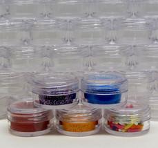 5 Makeup Jars Plastic Cosmetic Beauty Containers 30 Gram Ml Black Trim Lid #3830 - $16.95