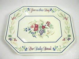 Bread Platter Lenox China 1999 The Harvest Celebration  GIVE US THIS DAY... - $18.50
