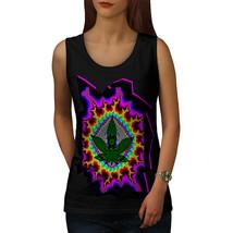Rasta Weed Psychedelic Tee Acid Trip Women Tank Top - $12.99