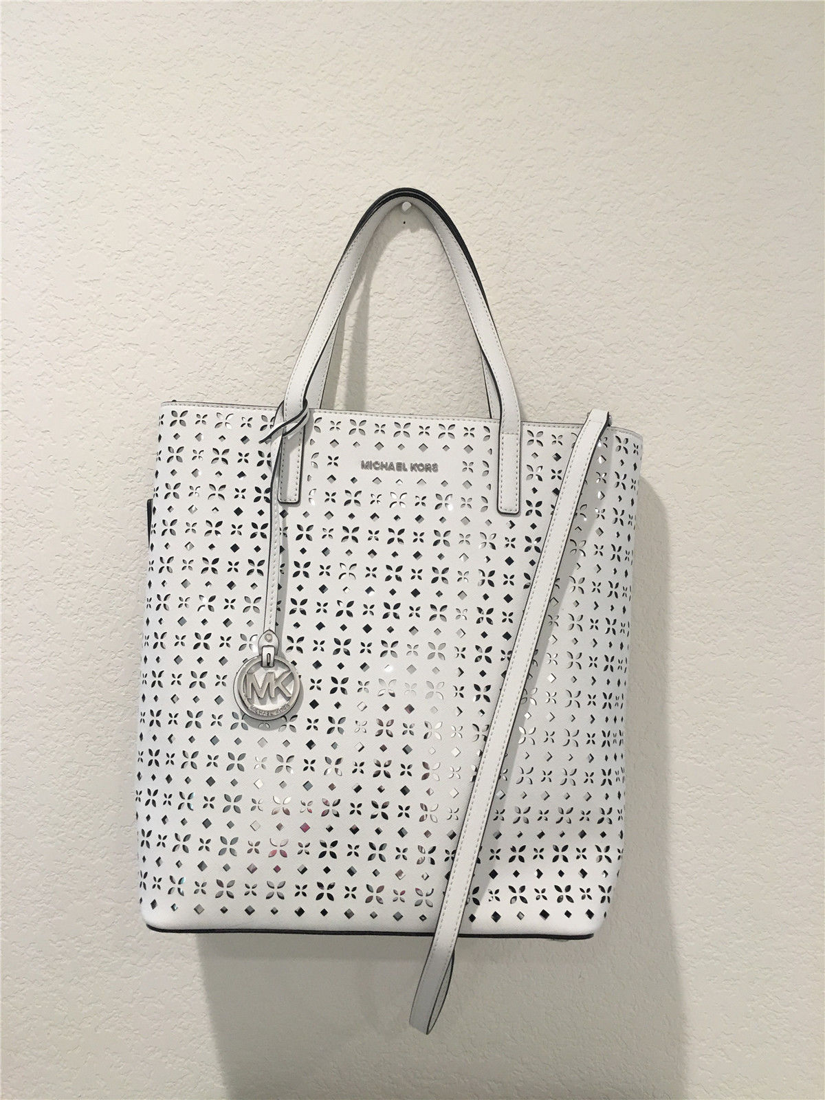 Primary image for MICHAEL MICHAEL KORS Hayley Large Perforated-Leather Tote Bag 30T6SH3T3U