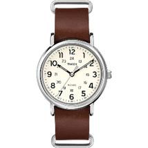 Timex Weekender Slip-Thru - Brown Leather Strap - $48.47