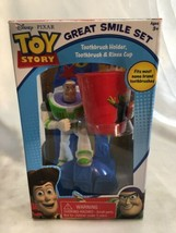 Disney * Pixar Toy Story Buzz Lightyear Great Smile Set/toothbrush Holde... - $32.00