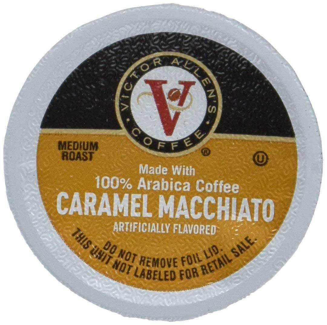 VICTOR ALLEN CARAMEL MACCHIATO SINGLE SERVE KCUP 80 CT COMPATIBLE W 2.0 K BREWER - $36.63