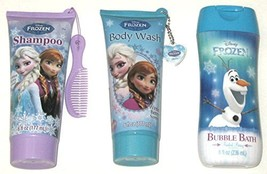 Disney Frozen 3 Piece Set: Shampoo, Body Wash, Bubble Bath Berry Scent - $19.99